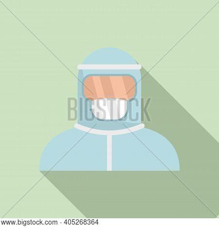 Biohazard Costume Icon. Flat Illustration Of Biohazard Costume Vector Icon For Web Design