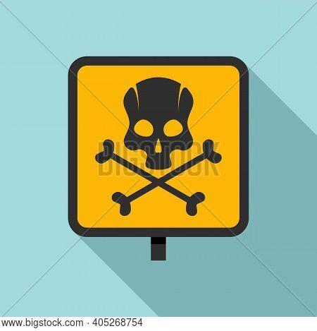 Biohazard Danger Icon. Flat Illustration Of Biohazard Danger Vector Icon For Web Design