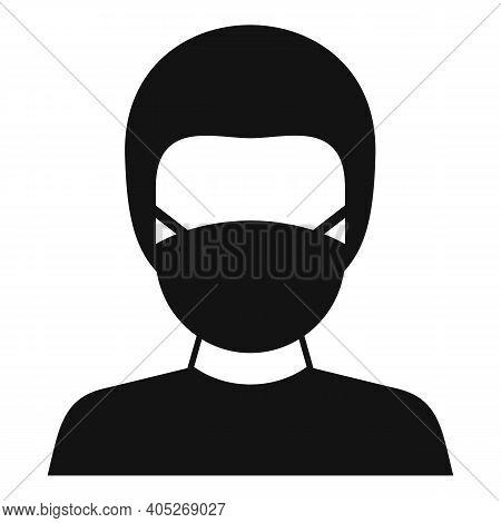 Biohazard Lab Man Icon. Simple Illustration Of Biohazard Lab Man Vector Icon For Web Design Isolated