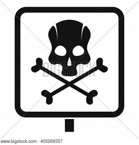 Biohazard Danger Icon. Simple Illustration Of Biohazard Danger Vector Icon For Web Design Isolated O