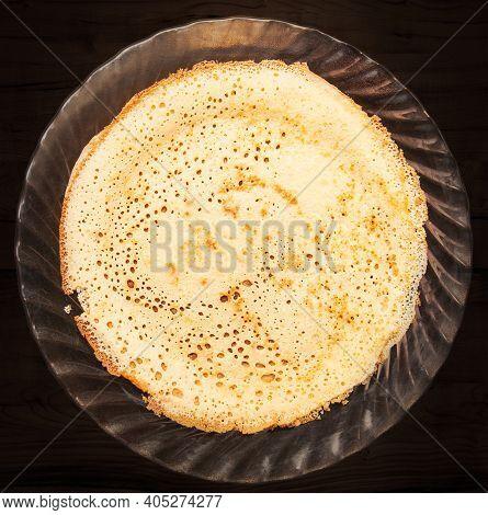 Background Of Homemade Russian Pancakes Bliny On Shrovetide - Maslenitsa