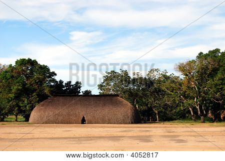 Typical house in Amazon Indian Village