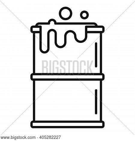 Biohazard Barrel Icon. Outline Biohazard Barrel Vector Icon For Web Design Isolated On White Backgro