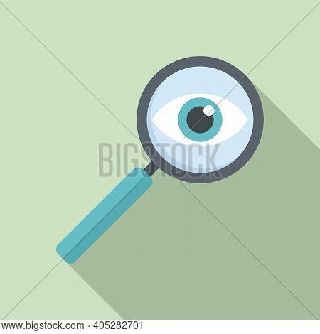 Investigator Magnifier Icon. Flat Illustration Of Investigator Magnifier Vector Icon For Web Design