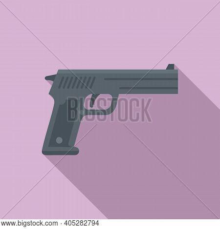 Investigator Pistol Icon. Flat Illustration Of Investigator Pistol Vector Icon For Web Design