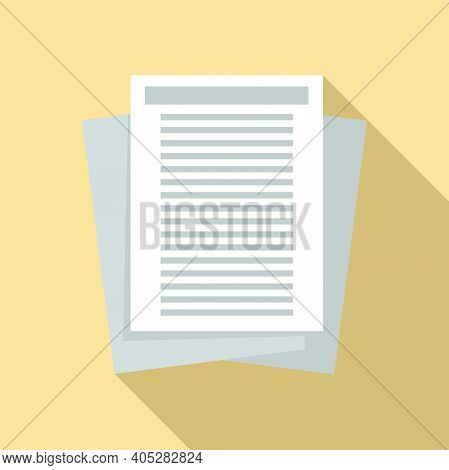 Investigator Documents Icon. Flat Illustration Of Investigator Documents Vector Icon For Web Design