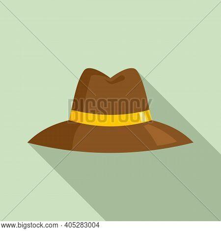 Investigator Hat Icon. Flat Illustration Of Investigator Hat Vector Icon For Web Design