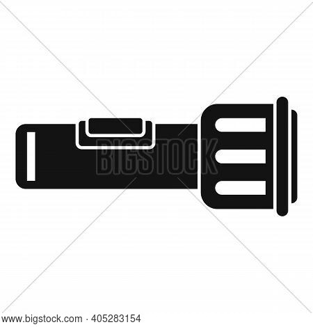 Investigator Flashlight Icon. Simple Illustration Of Investigator Flashlight Vector Icon For Web Des