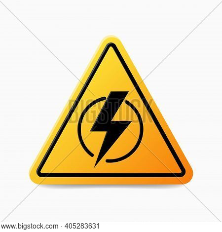 Power Outage. Symbol Without Electricity. Concept Without Electricity. Triangular Icon Of Electricit