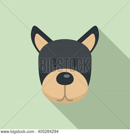 Dog Home Puppy Icon. Flat Illustration Of Dog Home Puppy Vector Icon For Web Design