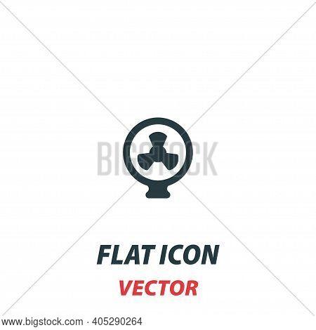 Fan Ventilator Blower Propeller Icon In A Flat Style. Vector Illustration Pictogram On White Backgro