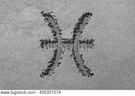 Pisces Zodiac Sign, Rugged Silver, Horoscope Astrology Background, Pisces Horoscope Symbol, Silver H