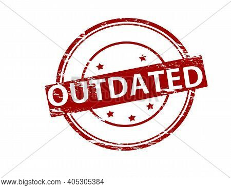Rubber Stamp With Word Outdated Inside, Vector Illustration