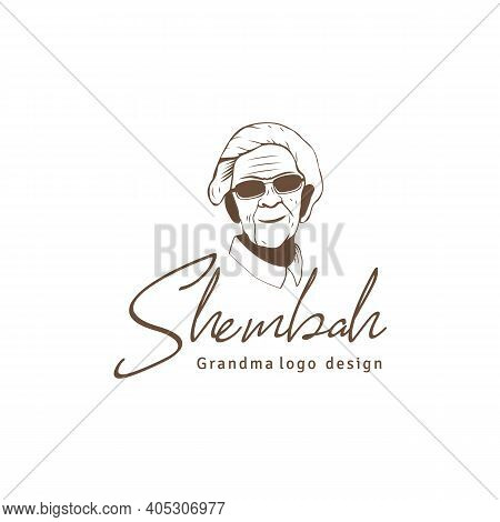 Retro Vintage Granny Or Grandma Logo Design