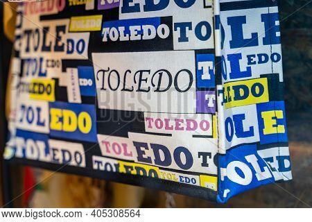 Toledo / Spain - January 23rd, 2020: Souvenir Bag With Word