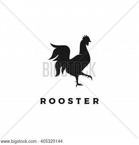 Chicken Rooster Silhouette Icon Logo Design Vector
