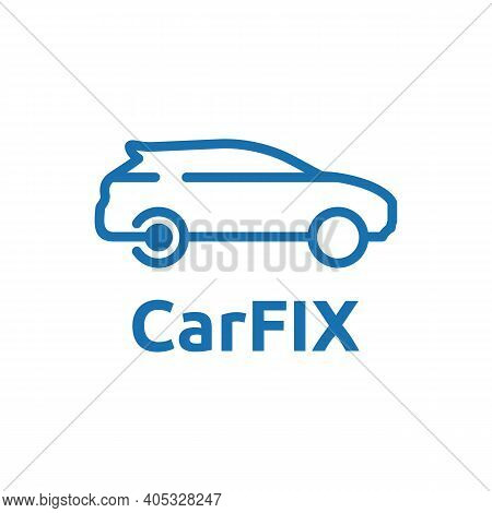 Line Art Car Logo For Car Service Salon Modification Workshop Showroom