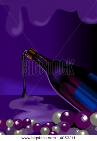 Bottle And Goblet Of Wine