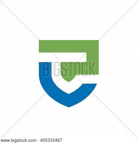 Letter Lp Or Pl Shield Logo Icon Design Template Elements - Vector