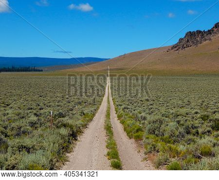 High Desert Track - A Back Road By The South Side Of Pine Mountain - Near Millican, Or
