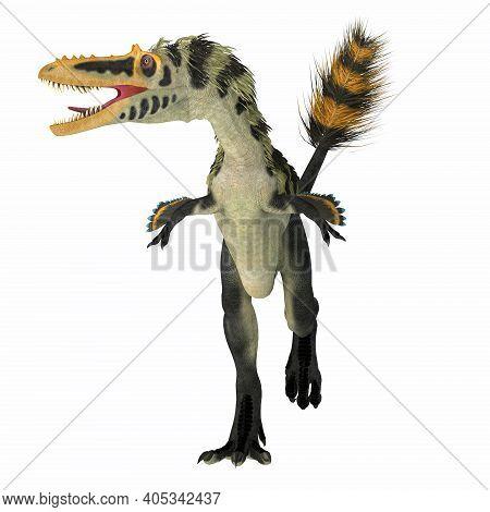 Alioramus Altai Dinosaur Front 3d Illustration - Alioramus Altai Was A Theropod Carnivorous Dinosaur