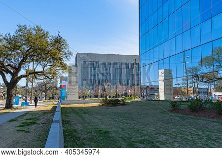 New Orleans, La - January 19: University Medical Center And Va Medical Center On January 19, 2021 In