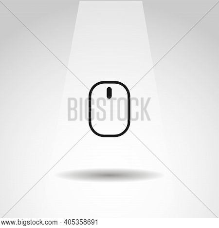 Computer Mouse Vector Icon, Mouse Simple Isolated Icon