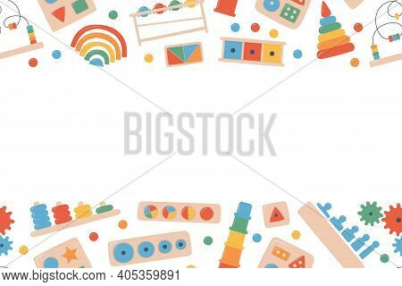 Children Wooden Toys For Montessori Games. Education Logic Toys For Preschool Kids. Montessori Syste