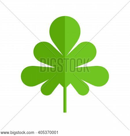 Parsley Or Cilantro Leaf Icon. Flat Vector Isolated On White Background.