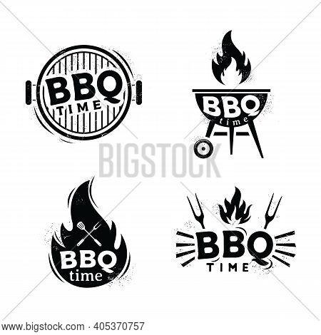 Vintage Grill Barbeque Barbecue Bbq, Bbq Time Badge, Sticker, Emblem, Logo Design