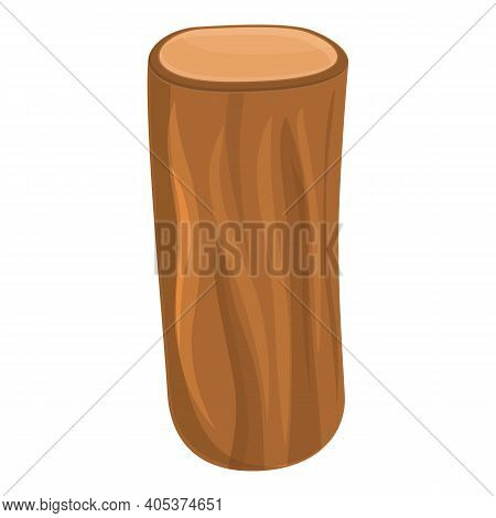 Material Tree Trunk Icon. Cartoon Of Material Tree Trunk Vector Icon For Web Design Isolated On Whit