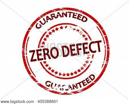 Rubber Stamp With Text Zero Defect Guaranteed Inside, Vector Illustration