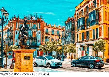 Downtown Of The City Seville - Is The Capital And Largest City O