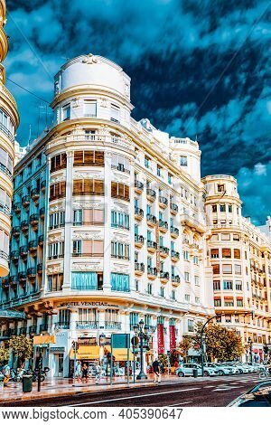 Valencia, Spain - Sept 10: Cityscape Of Valencia. September 10, 2014 In Valencia, Spain. Every Year,