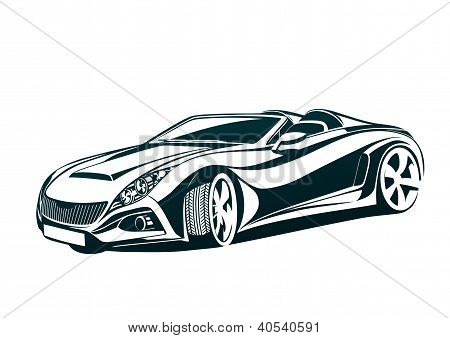 Speedy charismatic sport car, beauty and aesthetic poster