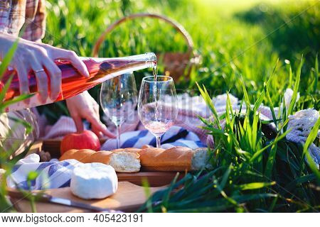 Girl At The Picnic In The Meadow