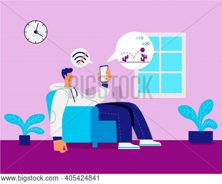 No Internet Connection, Slow Network Connection Illustration Vector