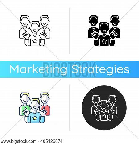 Evangelism Marketing Icon. Advanced Form Of Marketing In Which Companies Develop Customers Who Belie