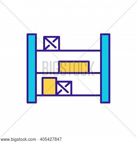 Storehouse Rgb Color Icon. Stockout Prevention. Inventory Administration. Logistics, Cargo Storage.