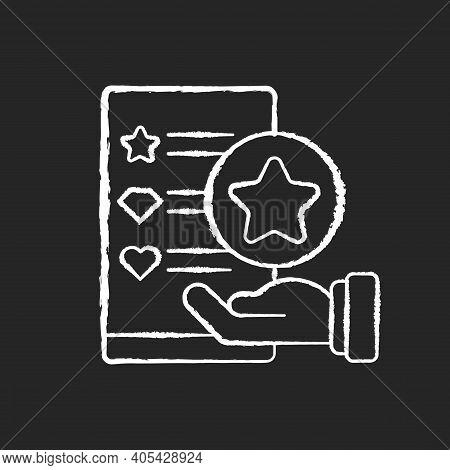 Usability Evaluation Chalk White Icon On Black Background. Adaptive Software. Interactive Applicatio