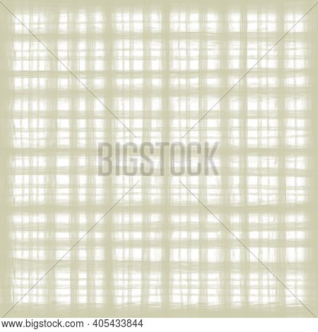 White Beige Pastel Vintage Checkered Background With Blur, Gradient And Grunge Texture. Classic Chec