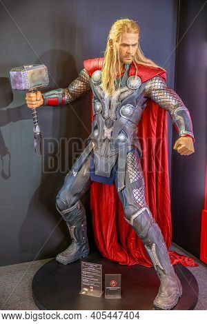 Tokyo, Japan - April 20, 2017: Thor Model From Age Of Heroes Movie At Mori Tower, Roppongi Hills Com