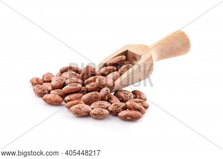 Pile Of Pinto Beans Isolated On A White Blackground
