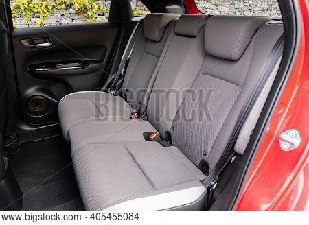 Grey Rear Seats Of A New Car