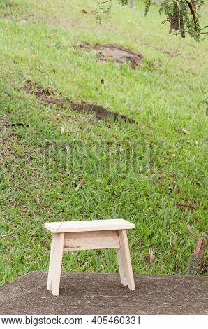 Wooden Chair Made By Hand; Made With Raw Wood.