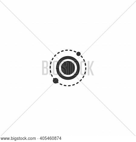 Solar System. Cosmos, Universe, Space Sign. Hub Network Connection Line Icon Isolated On White. Tech
