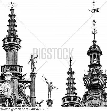 Brussels, Belgium - December 13, 2009: Fragment Of The Roof Of The Brussels City Museum On The Grand