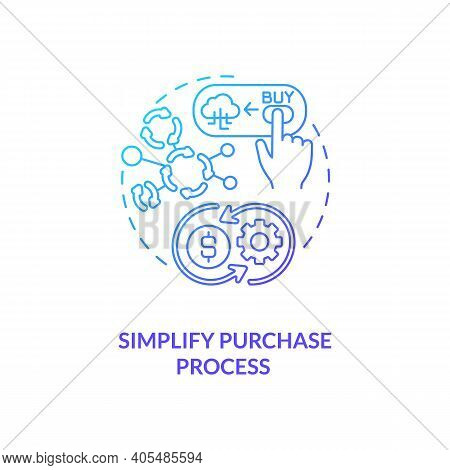 Simplifying Purchase Process Concept Icon. Saas Trial Idea Thin Line Illustration. Automated Billing