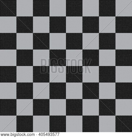 Chess Like Table Diagonal Diamond Holes Abstract Black Gray On Transparent Background Designer Cut