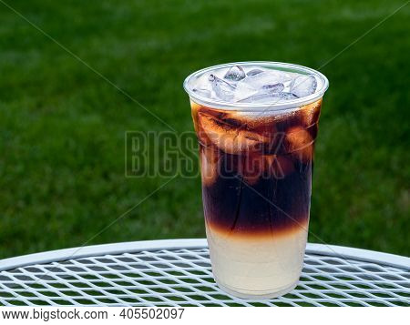 Cold Brew Shandy Drink Made With Nitro Cold Brew Coffee And Fresh Lemonade For A Delicious Summertim
